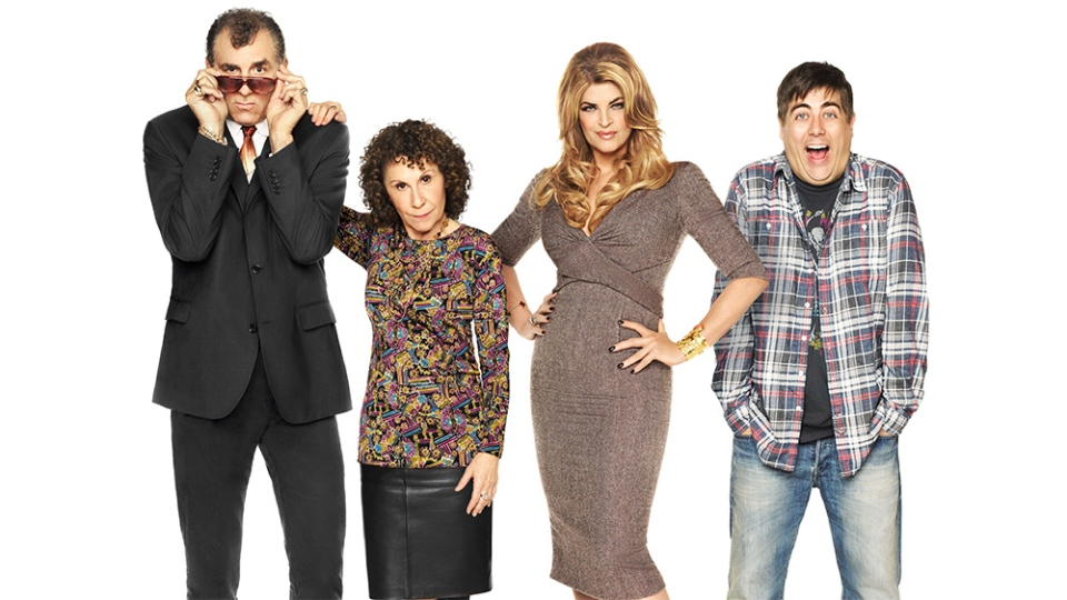 Kirstie Alley, Michael Richards, Rhea Perlman, Kirstie Alley and Eric Petersen in the new comedy 'Kirstie'