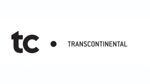 The corporate logo of Transcontinental Inc. is shown. THE CANADIAN PRESS/HO