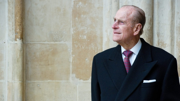 Prince Phillip looks at the assembled choir following the annual Commonwealth Day Observance Service at Westminster Abbey in London, March 14, 2011. Buckingham Palace says Phillip says has been admitted to hospital following 'abdominal investigations.' (AP / Leon Neal)