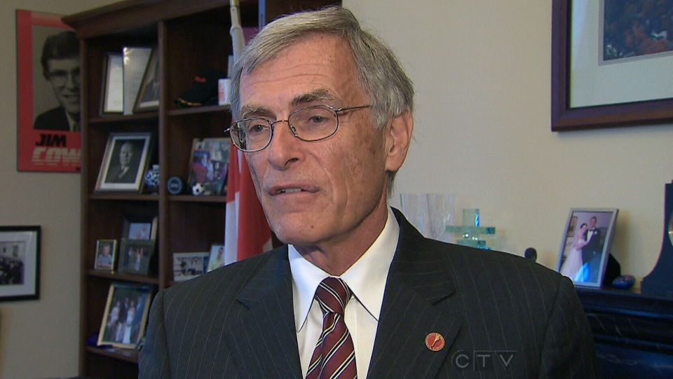 Liberal Senate Leader James Cowan appears on CTV News, Thursday, June 6, 2013.
