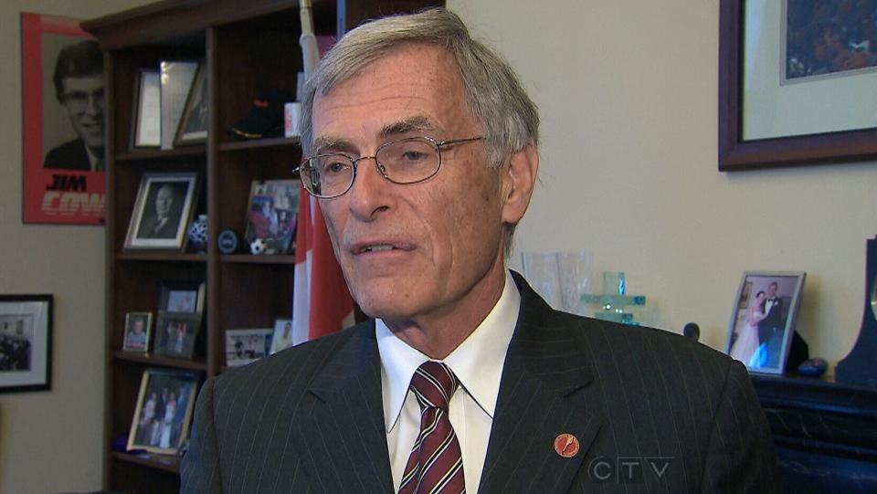 Liberal Senate Leader James Cowan appears on CTV News, Thursday, June 6, 2013.