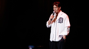 Charlie Sheen performs at the Fox Theatre in Detroit, Saturday, April 2, 2011. (AP / Carlos Osorio)