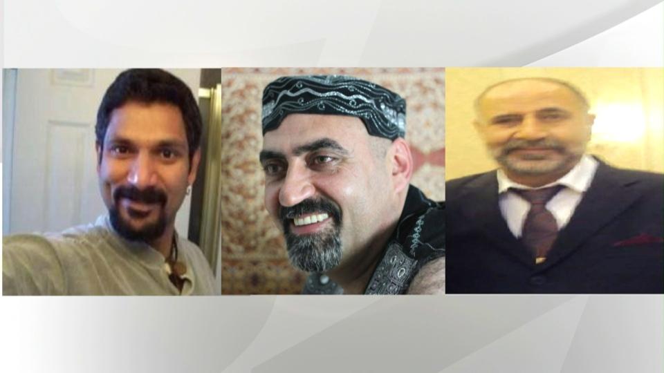 "Toronto police are investigating the disappearances of Skandaraj ""Skanda"" Navaratnam, Abdulbasir ""Basir"" Faizi and Majeed ""Hamid"" Kayhan. (Handout)"