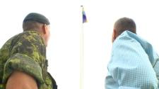 McDougall, partner, pride flag