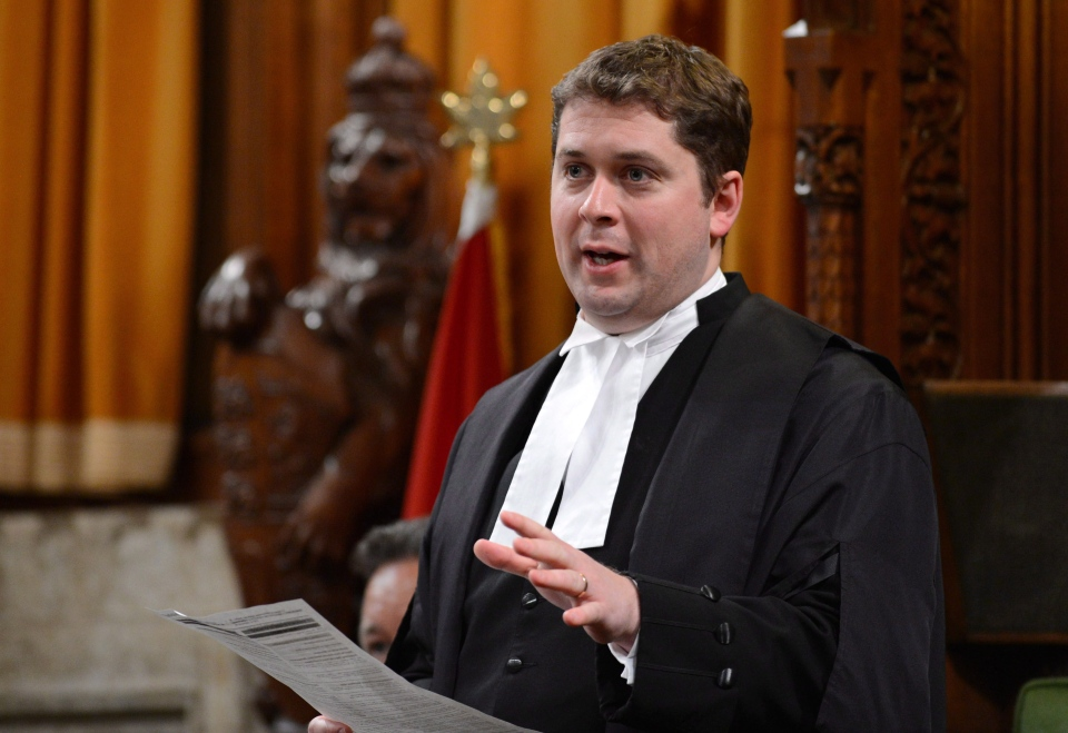 Speaker of the House of Commons Andrew Scheer speaks in the House of Commons on Parliament Hill in Ottawa on Monday, April 22, 2013. (Sean Kilpatrick  / THE CANADIAN PRESS)