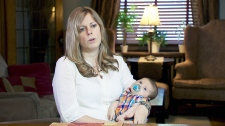 New mother Lisa Halen