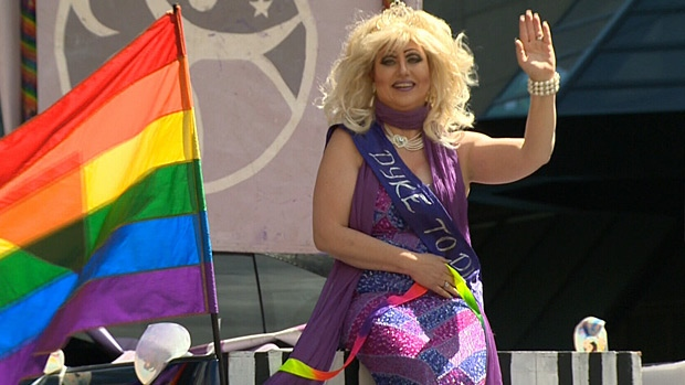 Edmonton's Pride Festival officially kicked off Saturday with the annual pride parade.
