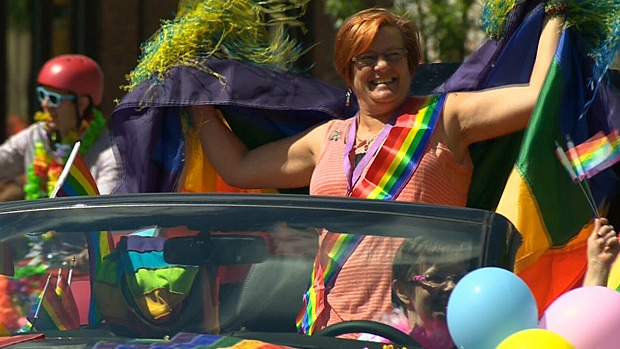 Organizers said there were a record 80 floats in total for this year's pride parade.
