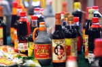 Bottles of iron fortified soy sauce on display in Beijing, China on July 13, 2007. (AP / Elizabeth Dalziel)