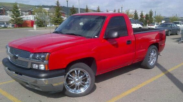 Two missing men in the East Kootenay area were last seen Saturday afternoon in this Chevy pickup truck with Alberta plates