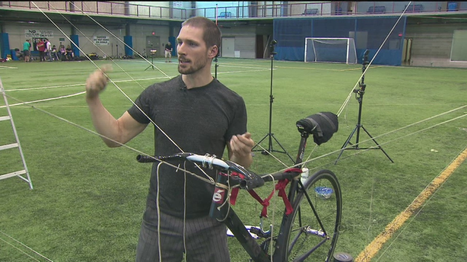 Todd Reichert, co-captain of the Human-Powered Ornithopter Project (CTV Toronto)
