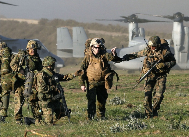 Japan holds military exercise in U.S.