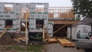 A house under construction on Lakeshore Drive in Windsor, Ont., on Monday, June 10, 2013. (Chris Campbell / CTV Windsor)