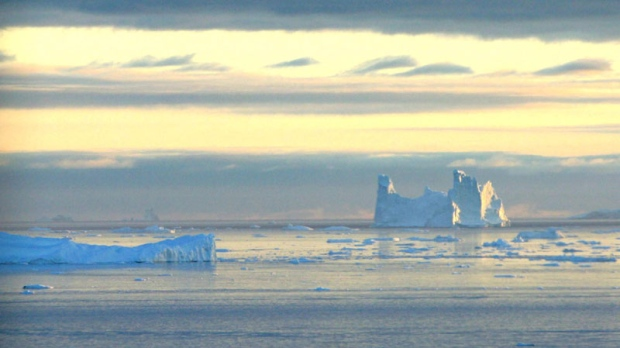 In this Thursday Aug. 18, 2005 file photo an iceberg is seen in Disko Bay, Greenland, above the arctic circle. (AP Photo/John McConnico, File)