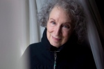 Author Margaret Atwood is pictured in a Toronto hotel room on Tuesday March 6, 2012, as she promotes the documentary film 'Payback' based on her book. THE CANADIAN PRESS/Chris Young.