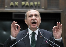 Turkey's PM Erdogan addresses lawmakers in Ankara
