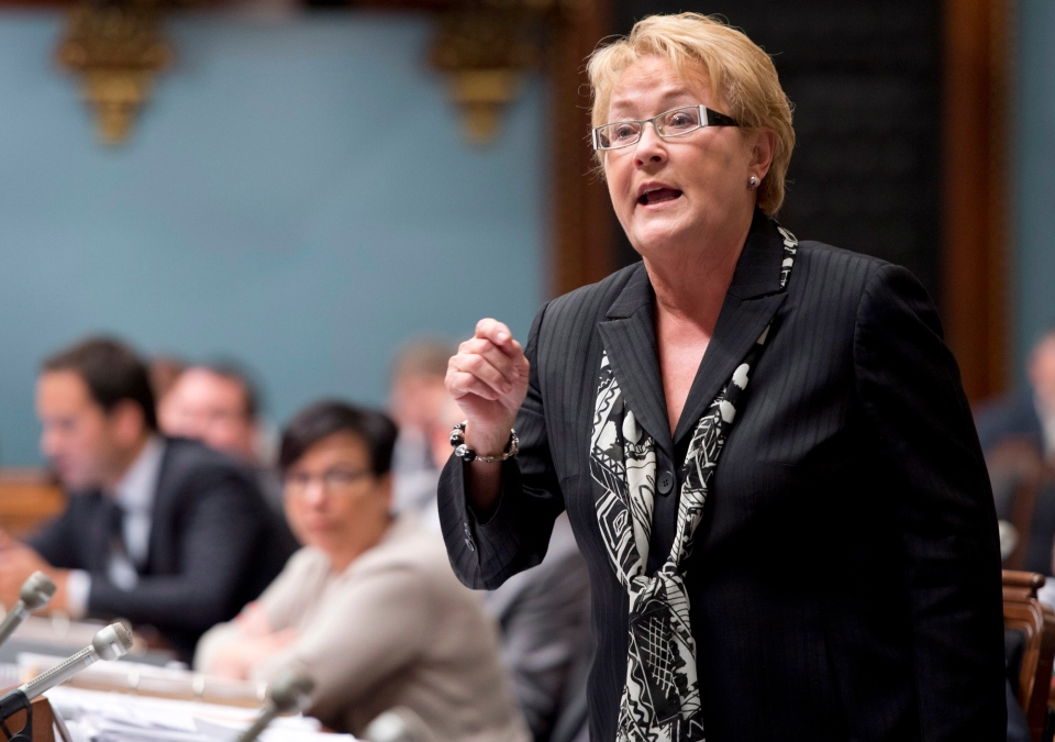 Quebec Premier Pauline Marois responds to Opposition questions Tuesday, June 11, 2013 at the legislature in Quebec City. (Jacques Boissinot / THE CANADIAN PRESS)