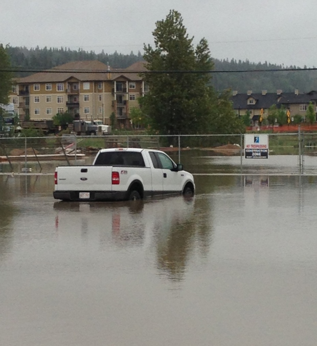 Flooding affected a number of buildings, vehicles in Fort McMurray Tuesday, June 11. Courtesy: R. Thomas