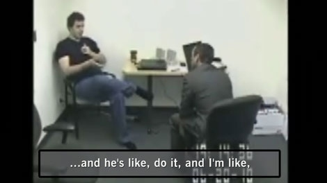 Cameron Moffat talks to police about murdering Kimberly Proctor in a June 20, 2010 interview. (CTV)