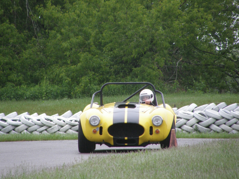 Fast and nimble, the Replica Cobra Racecar is surprisingly easy to drive, once you're going (Allan Jamieson)
