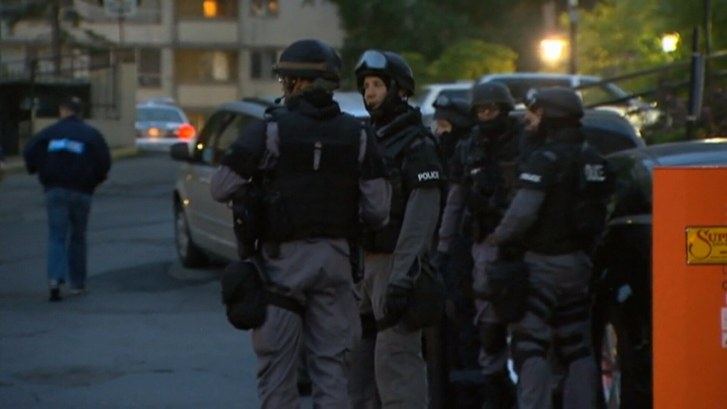 Toronto police conduct early morning raids in the GTA, Thursday, June 13, 2013.