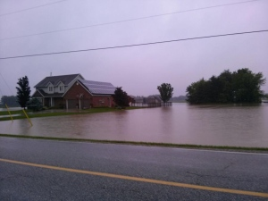 Flooding on Lucier Estates