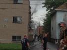Windsor firefighters put out a blaze at 3547 Sandwich St. in Windsor, Ont., on Thursday, June 13, 2013. (Dan Appleby / CTV Windsor)