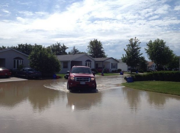 Heavy rainfall caused flooding across Essex County on Thursday, June 13, 20