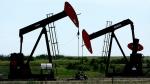 Pumpjacks at work pumping crude oil near Stettler, Alta., June 20, 2007.(Larry MacDougal / THE CANADIAN PRESS)