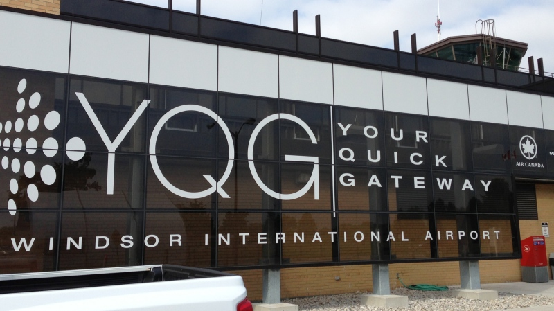 The front entrance of Windsor International Airport is shown in this file photo in Windsor, Ont. (Michelle Maluske / CTV Windsor)