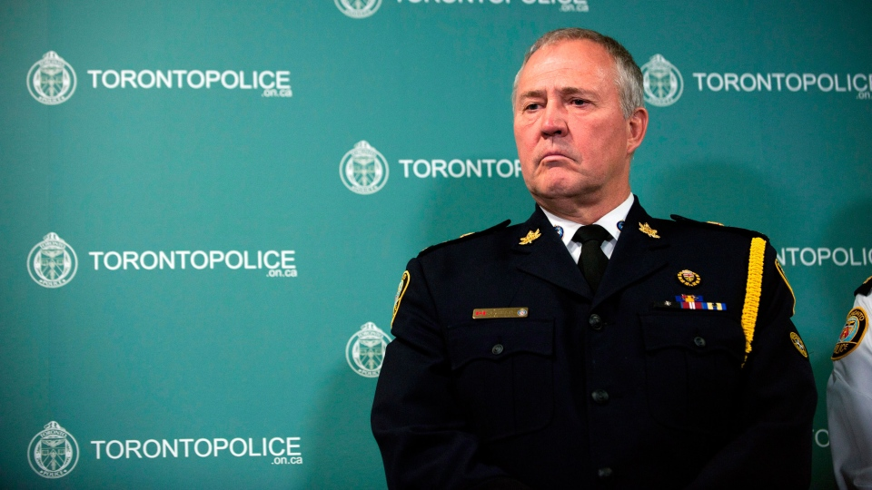 Toronto Police Chief Bill Blair prepares to address a news conference in Toronto, Thursday, June 13, 2013. (Galit Rodan / THE CANADIAN PRESS)