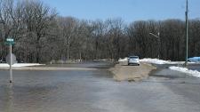 Flooding has also been east of Winnipeg, in the Lorette area. (photo courtesy Dan Gobeil)