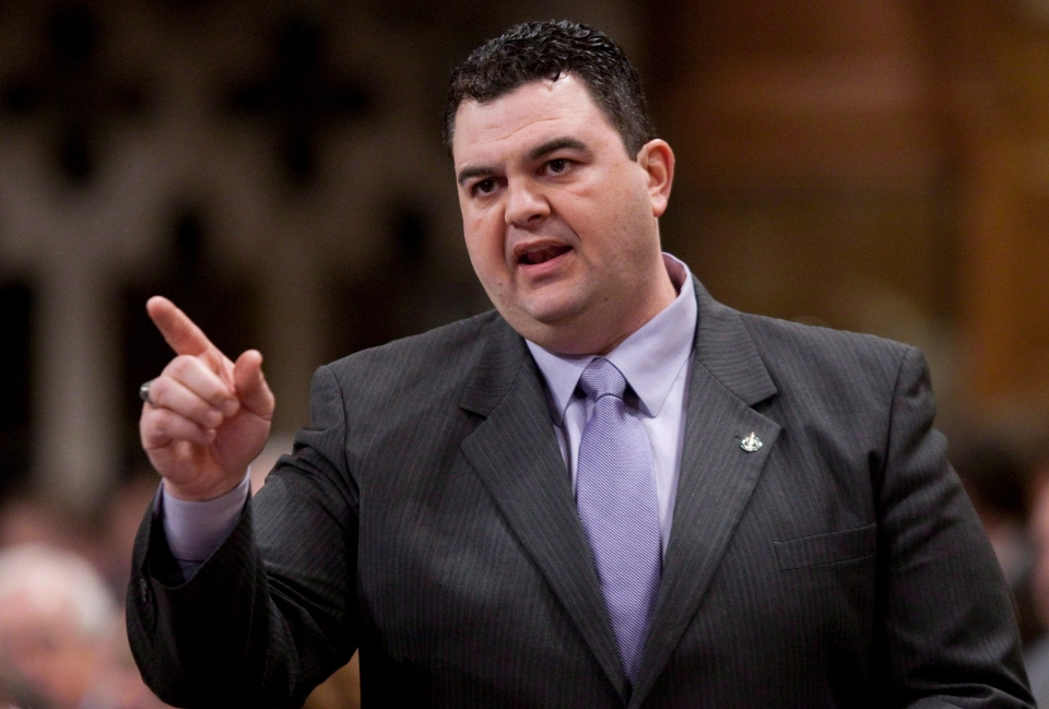 Dean Del Mastro in the House of Commons on Parliament Hill in Ottawa, on March 1, 2012. (Adrian Wyld / THE CANADIAN PRESS)