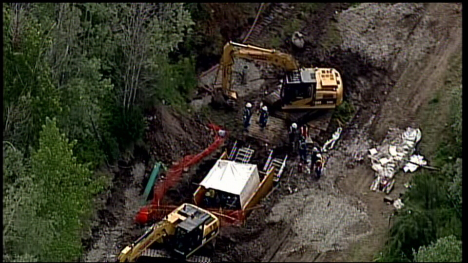Oil spill near Merritt
