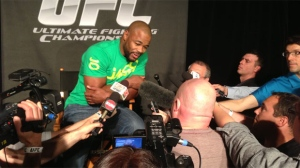Rashad Evans speaks to media about UFC 161 in Winnipeg on June 13, 2013.