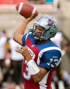 Montreal Alouettes quarterback Anthony Calvillo th