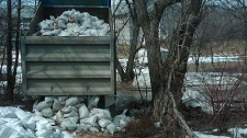In Winnipeg, the city is estimating about 100,000 sandbags will be delivered to homes on April 7, 2011.
