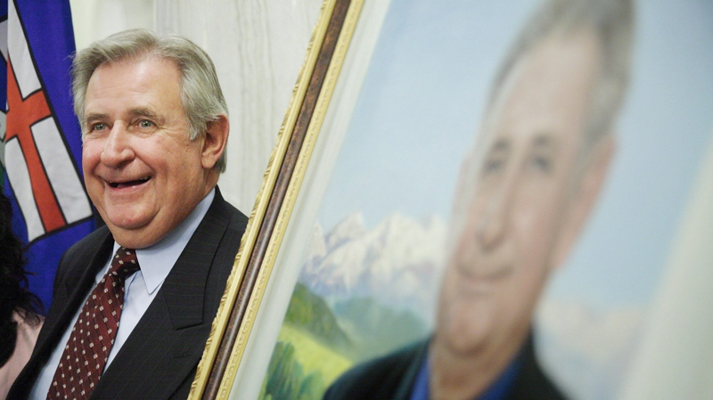 Former premier Ralph Klein at the unveiling of his official portrait at the Alberta Legislature Rotunda in Edmonton on Thursday, Aug. 30, 2007. (John Ulan / THE CANADIAN PRESS)