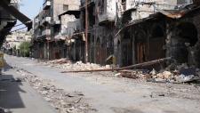 Syria explosion damage gun fire