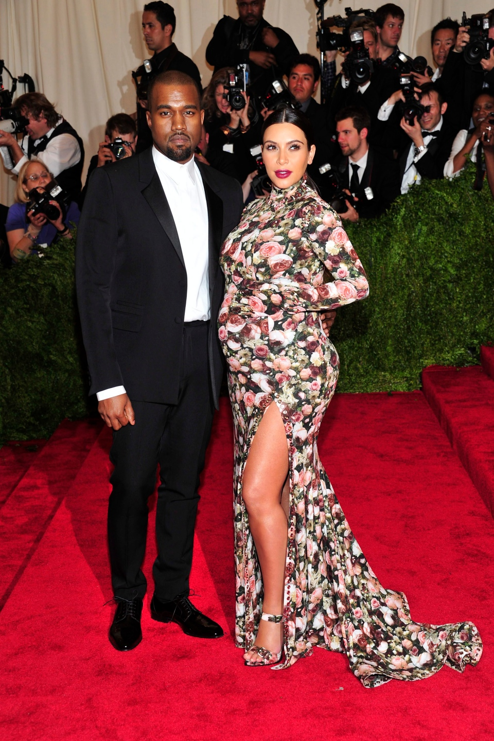 Kanye West and Kim Kardashian attends The Metropolitan Museum of Art's Costume Institute benefit celebrating 'PUNK: Chaos to Couture' in New York on Monday, May 6, 2013. (Invision / Charles Sykes)