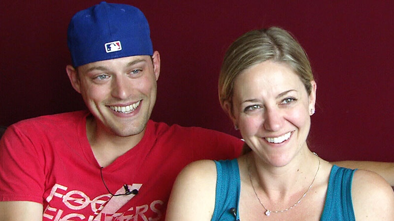 Newlyweds Paul Kingston, left, and Leslie Seiler, right, speak to CTV Toronto about their viral wedding photo.