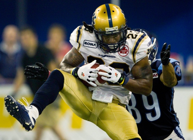 Winnipeg Blue Bombers defensive back Jonathan Hefn