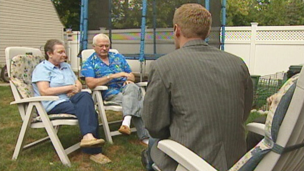 James and Nancy Henderson, who are both deaf, speak with CTV News in Aug. 2010.