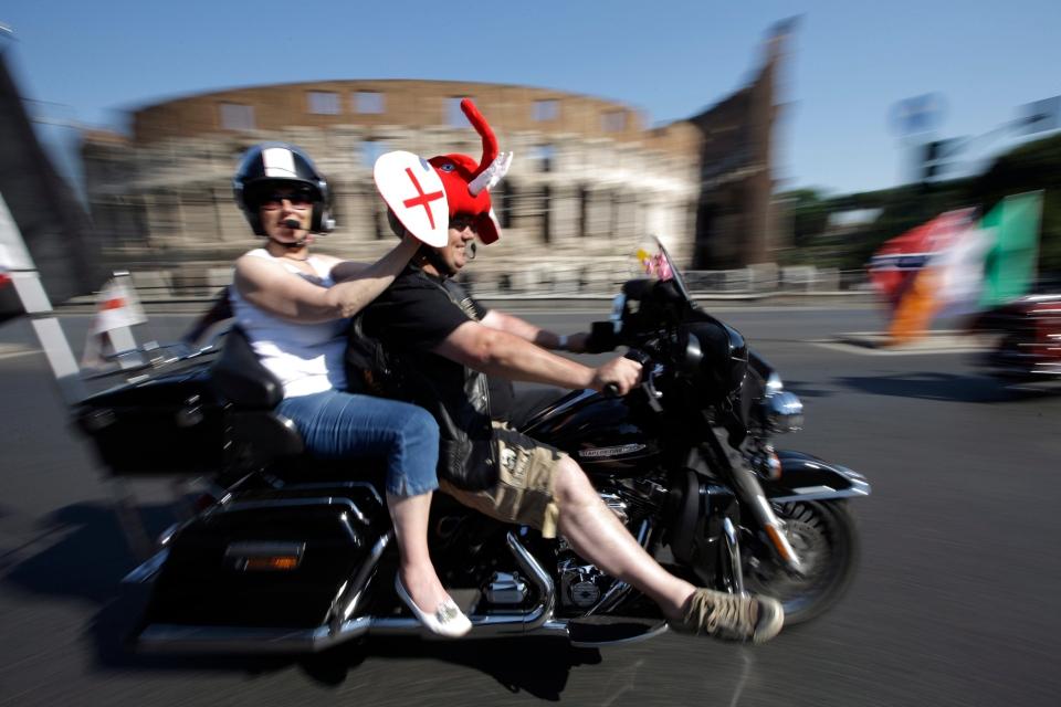 Harley Davidson, motorcycle, Rome, Italy