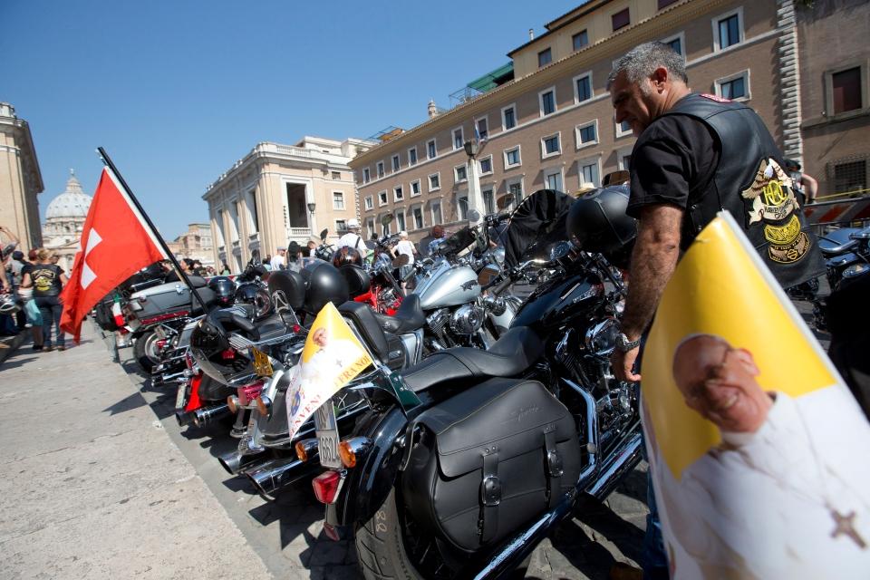 Harley Davidson, Pope Francis, Vatican, Rome