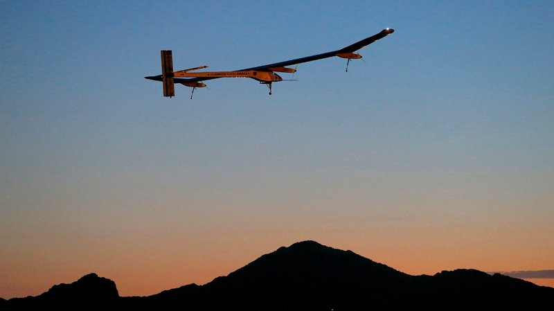 Solar Impulse lands in Texas