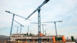 Cranes are shown at a construction site in Montreal, Tuesday, February 14, 2012. (THE CANADIAN PRESS/Ryan Remiorz)