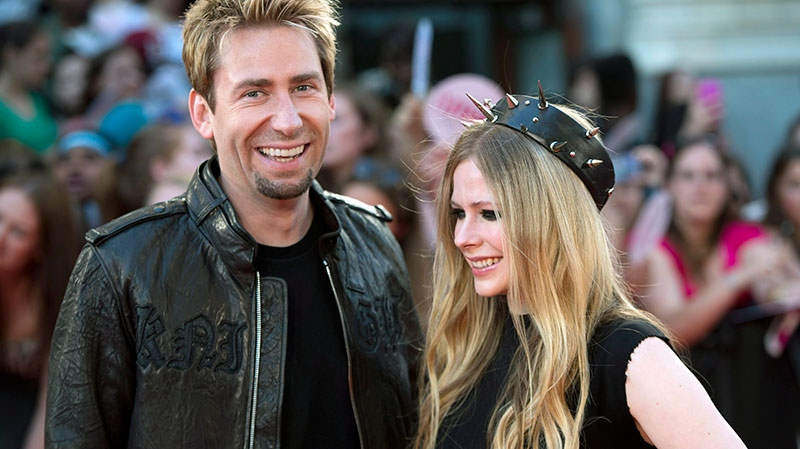 Chad Kroeger and Avril Lavigne pose on the red carpet during the 2013 Much Music Video Awards in Toronto on Sunday, June 16, 2013. (Nathan Denette / THE CANADIAN PRESS)