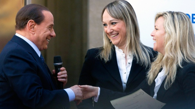 Berlusconi ignores legal woes, jokes about blondes | CTV News