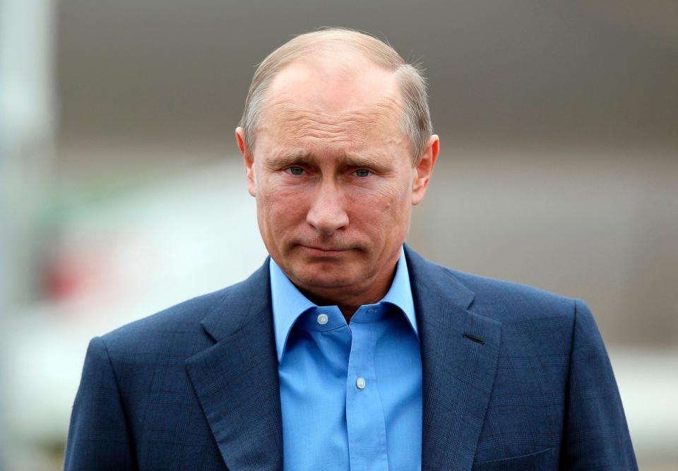 Russian President Vladimir Putin arrives at Belfast International Airport, in Northern Ireland, on Monday, June 17, 2013. (AP / Peter Muhly)